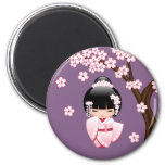 Japanese Bride Kokeshi Doll Magnet