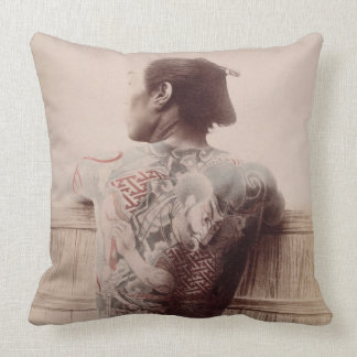 Japanese Bridegroom's Tattoos, c.1880 (photo) Pillow