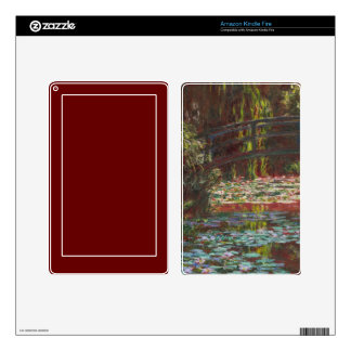 Japanese Bridge and Water Lilies by Claude Monet Skins For Kindle Fire