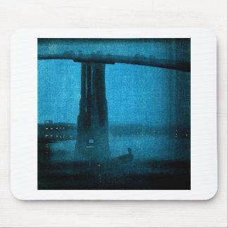 Japanese Bridge at Night 2 Mousepad