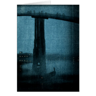 Japanese Bridge at Night no.1 Card