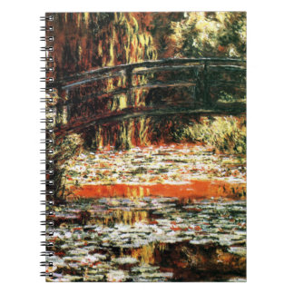 Japanese Bridge by Claude Monet Notebook