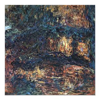 Japanese Bridge by Monet, Vintage Impressionism 5.25x5.25 Square Paper Invitation Card