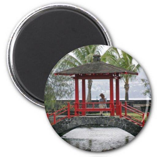 Japanese Bridge in Hilo, Hawaii Magnet