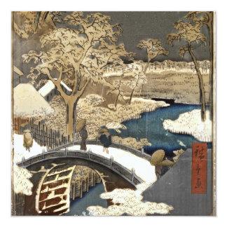 Japanese Bridge in the Snow Card