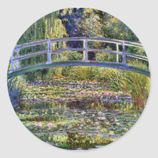 Japanese Bridge Monet Fine Art Classic Round Sticker