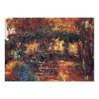 Japanese Bridge, Monet, Vintage Impressionism Art 5x7 Paper Invitation Card