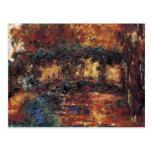 Japanese Bridge, Monet, Vintage Impressionism Art Post Card