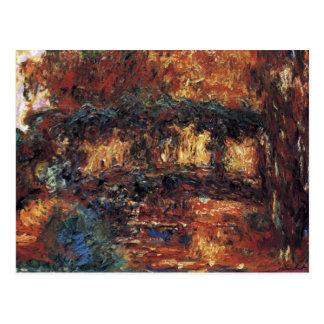 Japanese Bridge Monet Vintage Impressionism Art Post Card