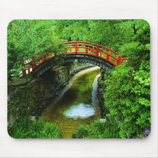 Japanese Bridge Mouse Pad