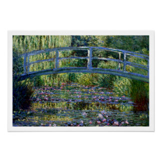 Japanese Bridge - Pont Japonais - by Claude Monet Poster
