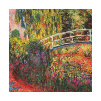 Japanese Bridge Water Lily Pond by Claude Monet Gallery Wrap Canvas