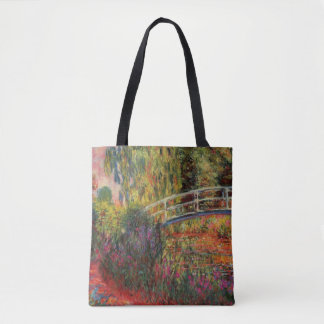 Japanese Bridge Water Lily Pond by Claude Monet Tote Bag