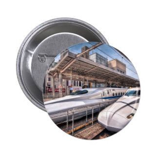 Japanese Bullet Trains at Tokyo Station 2 Inch Round Button