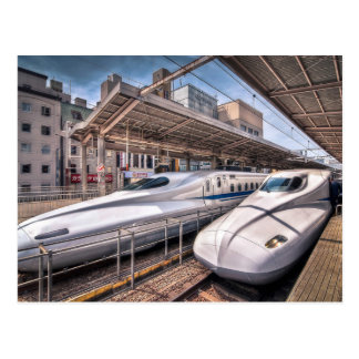 Japanese Bullet Trains at Tokyo Station Postcards
