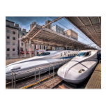 Japanese Bullet Trains at Tokyo Station Postcards