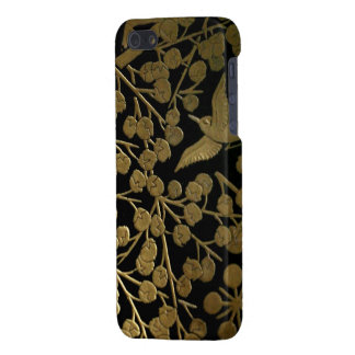 Japanese bush warbler and plum tree iPhone 5 cases