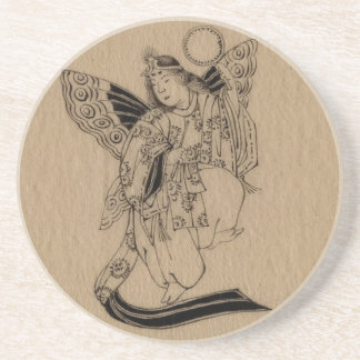 Japanese Butterfly Angel Coaster