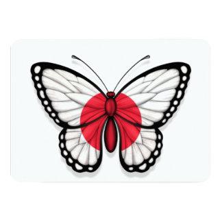 "Japanese Butterfly Flag 5"" X 7"" Invitation Card"