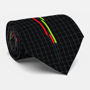 Japanese Candlestick abstract stock diagram Neck Tie