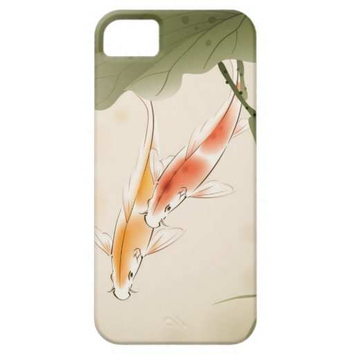 Japanese Carp fishes swimming in lotus pond iPhone 5 Case