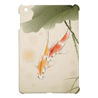 Japanese Carp fishes swimming in lotus pond Case For The iPad Mini