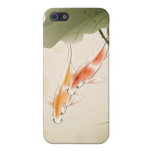 Japanese Carp fishes swimming in lotus pond Cases For iPhone 5