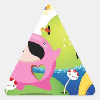 Japanese Cartoon Triangle Sticker