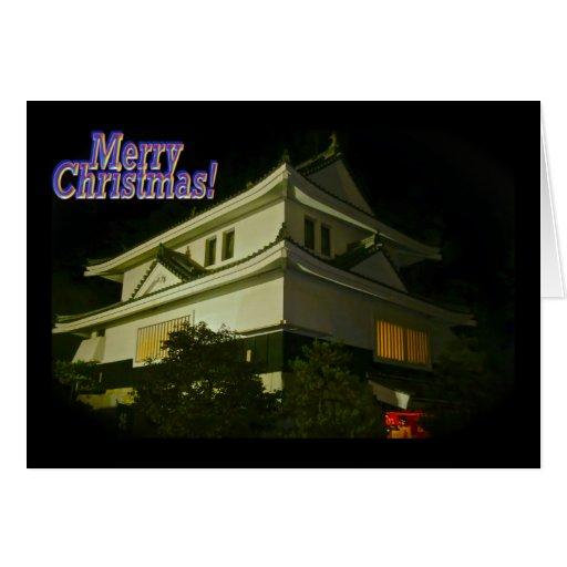 Japanese Castle Christmas Greeting Card