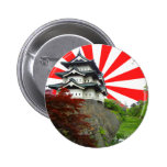 Japanese Castle Pinback Buttons
