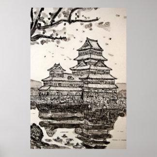 Japanese Castle Poster