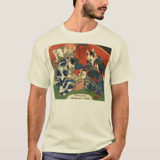 Japanese Cat Art T-Shirt