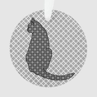 Japanese Cat - Black and White Kimono Print