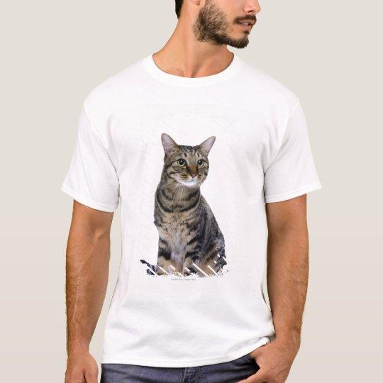 Japanese cat on white background T-Shirt