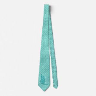 Japanese Cat - Turquoise Kimono Print Tie