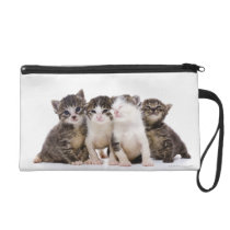 Japanese cat wristlet purse