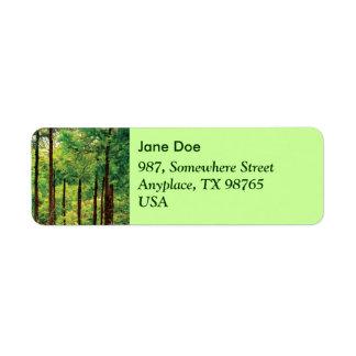 Japanese Cedar woods Label