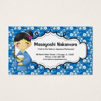 Japanese Chef Restaurant Business Card