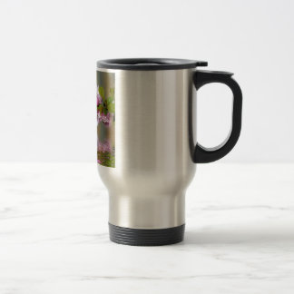 Japanese Cherry Blossom Decorative above the water Travel Mug