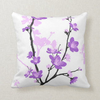 Japanese cherry blossom, gentle pink flower,girly, throw pillow