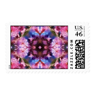 Japanese Cherry Blossom Kaleidoscope Postage