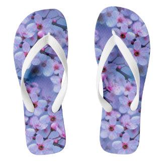Japanese Cherry Blossom Pattern Flip Flops