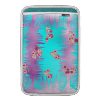 Japanese Cherry Blossom Pink Purple and Teal Mix MacBook Air Sleeves