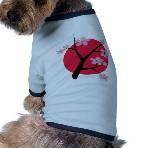 Japanese Cherry Blossom Tattoo Doggie Shirt