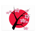 Japanese Cherry Blossom Tattoo Post Card