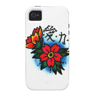 Japanese Cherry Blossoms and Kanji Case For The iPhone 4