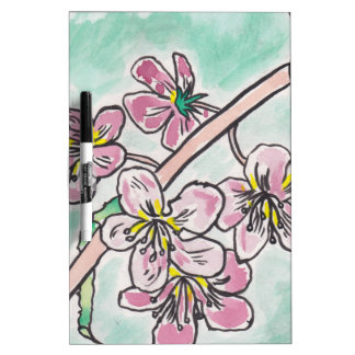 Japanese Cherry Blossoms Dry Erase Board