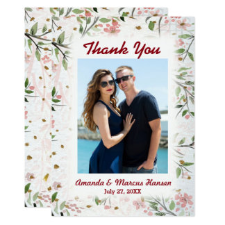 Japanese Cherry Blossoms Flowers Thank You Card