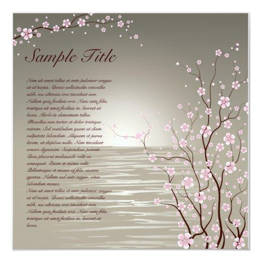 Japanese Cherry Blossoms Invitation 01