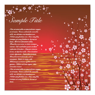 Japanese Cherry Blossoms Invitation 02